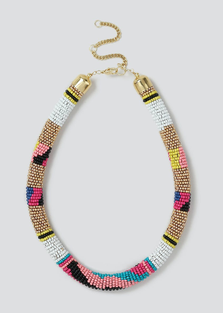 Neon Seedbead Rope Necklace