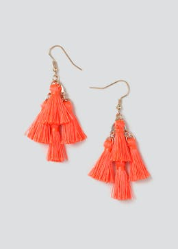 Multi Tassel Chandelier Earring