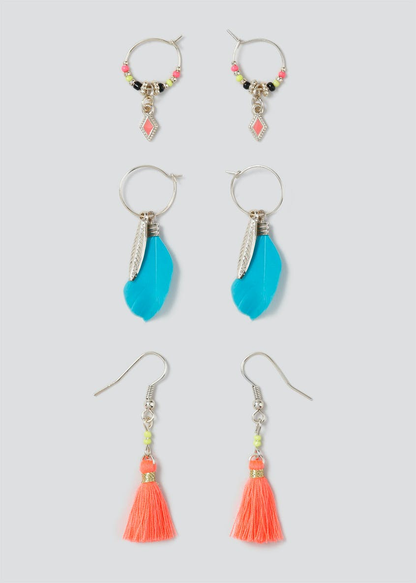 Neon Mini Drop Earring 3 Pack
