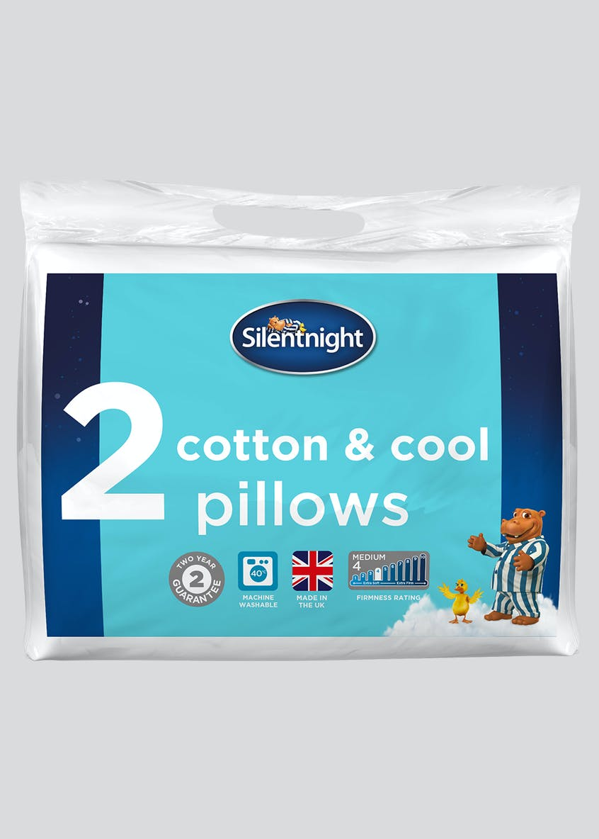 Silentnight Cotton & Cool Pillow Pair