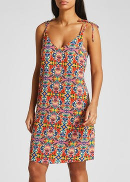 Printed Tie Cami Dress