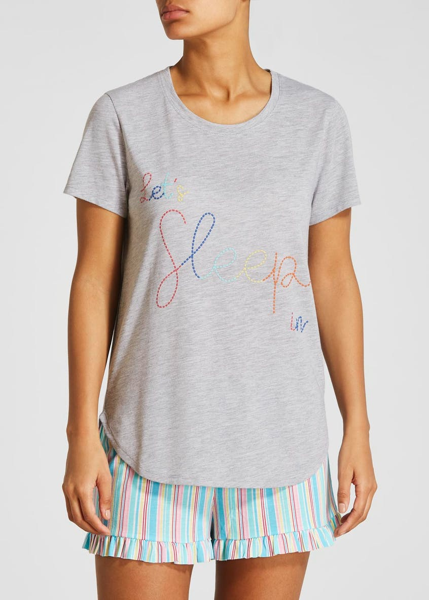 Mix & Match Sleep Slogan Pyjama Top