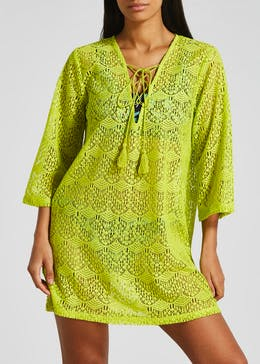 Crochet Lace Up Kaftan