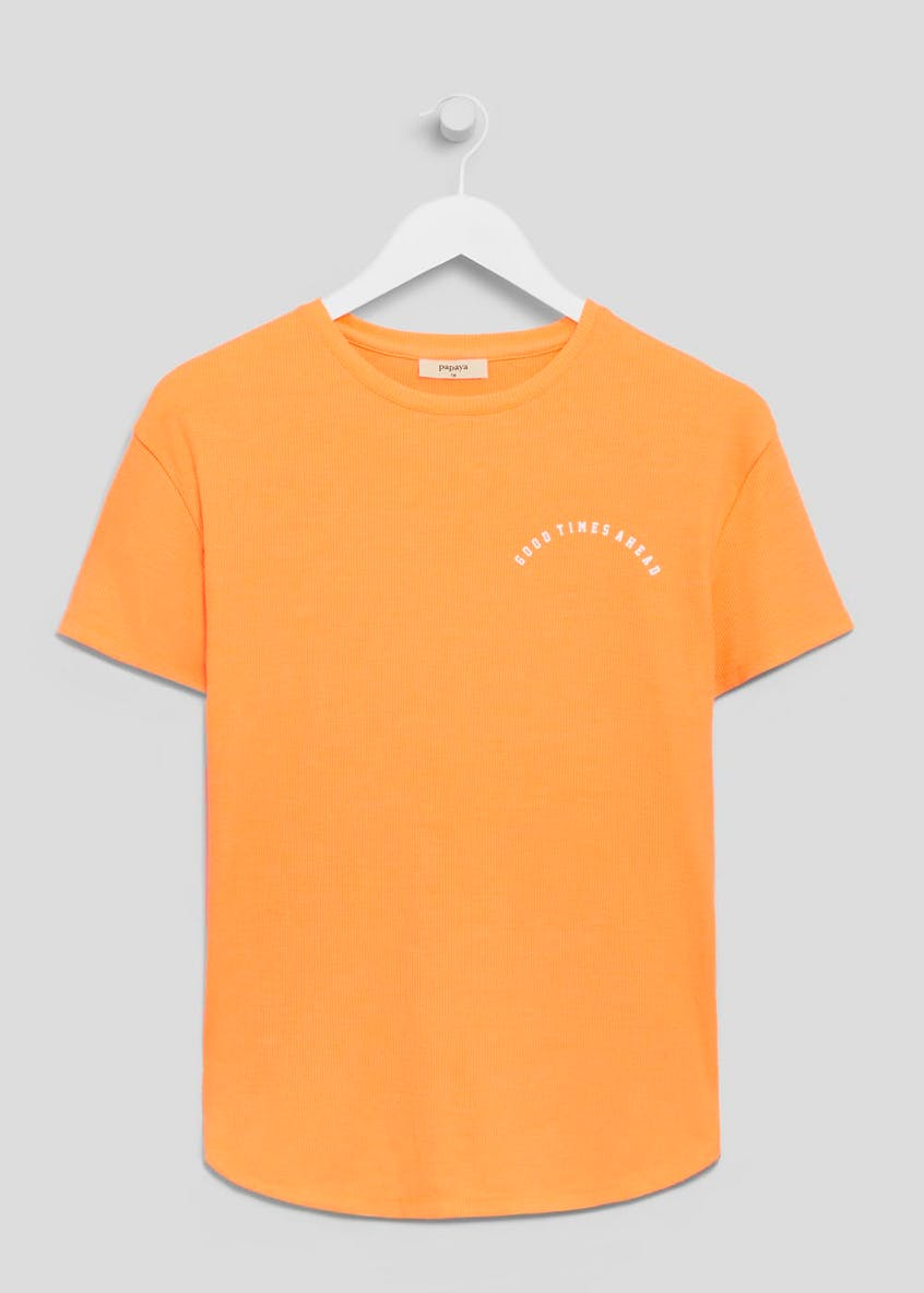 Neon Ribbed T-Shirt