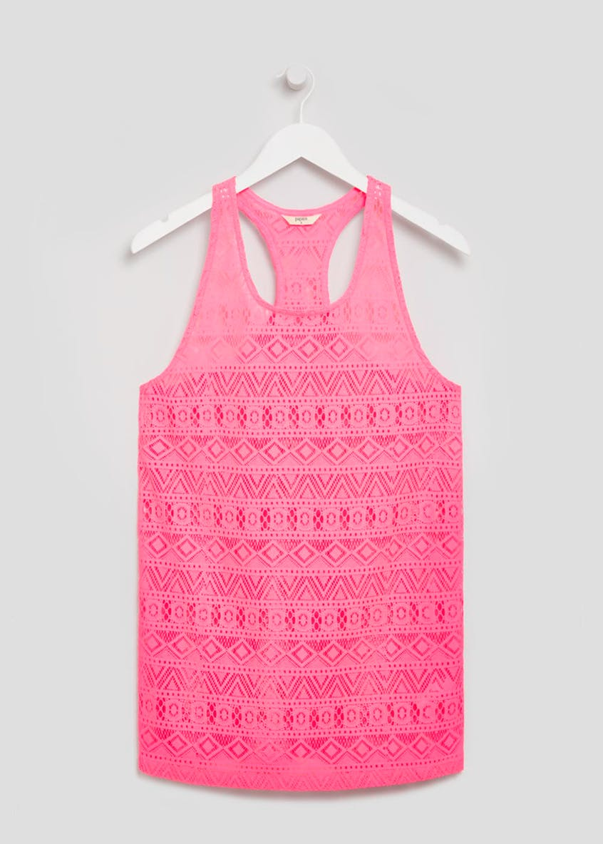 Lace Vest Beach Dress