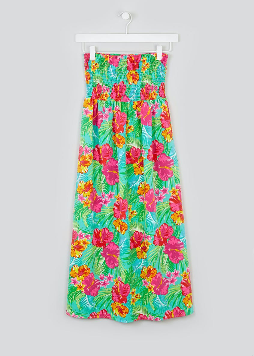 Girls Candy Couture Floral Bandeau Maxi Dress (9-16yrs)