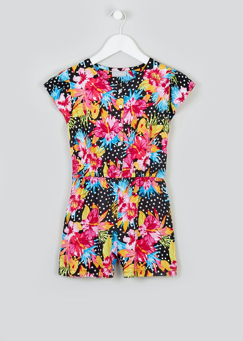 Girls Floral Playsuit (4-13yrs)