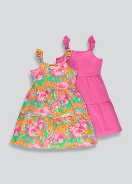 Girls 2 Pack Tiered Dresses (4-13yrs)
