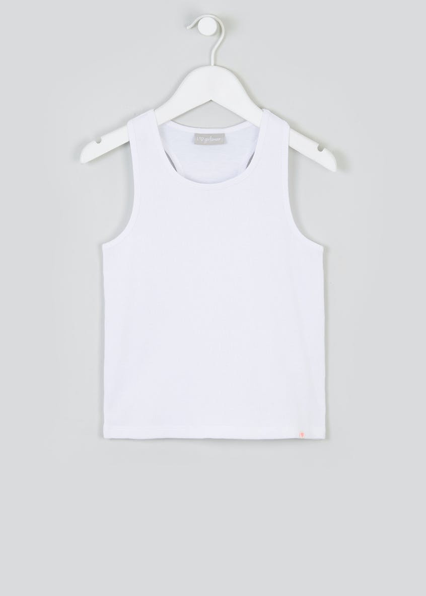 Girls Ribbed Vest (4-13yrs)