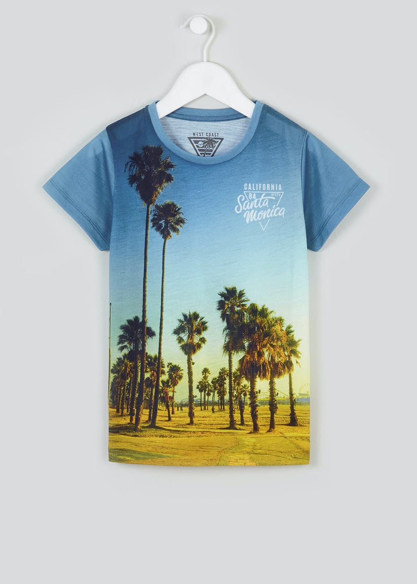 Boys Santa Monica Print T-Shirt (4-13yrs)