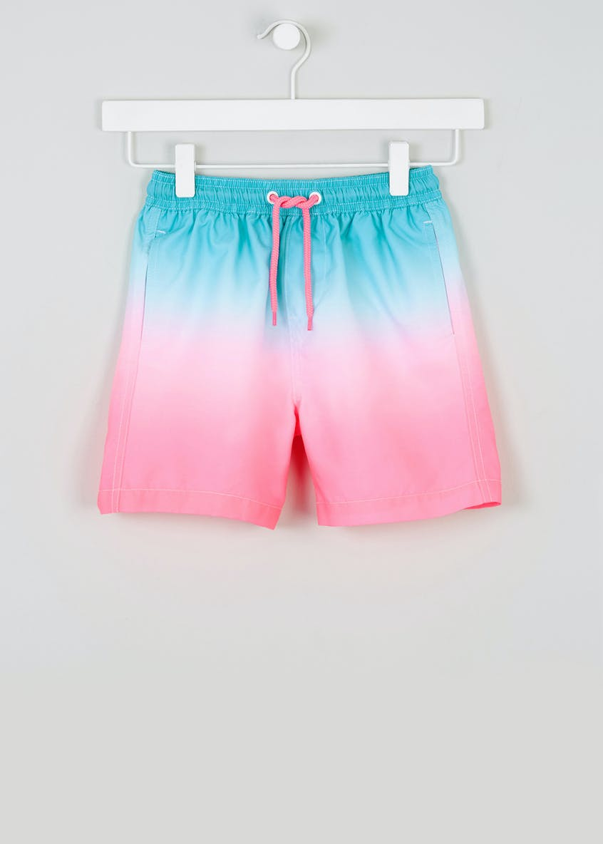 Boys Neon Ombre Swim Shorts (4-13yrs)