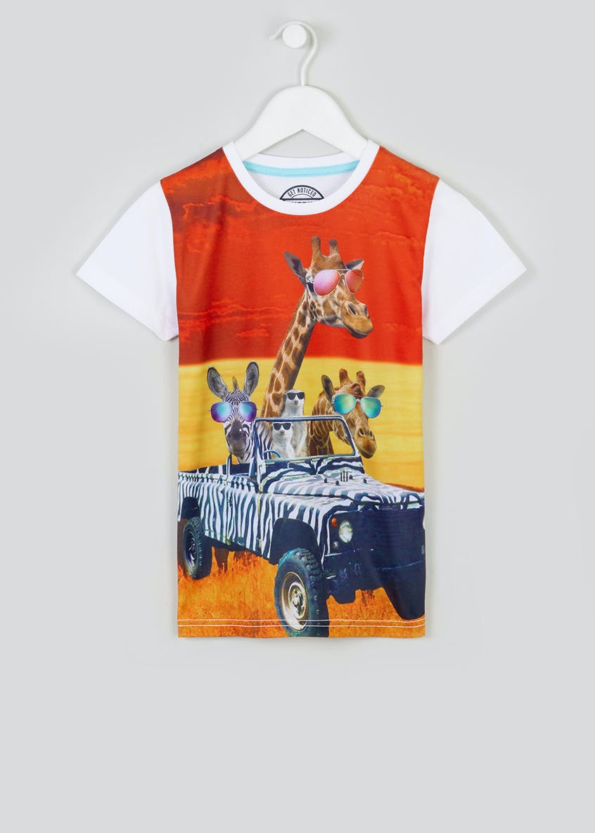 Kids Safari Print T-Shirt (4-13yrs)
