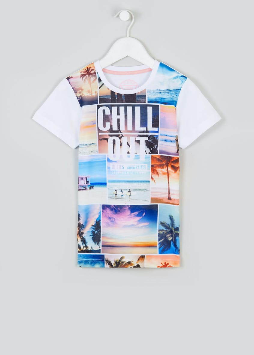 Boys Chill Out Slogan T-Shirt (4-13yrs)