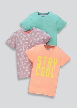 Boys 3 Pack Stay Cool T-Shirts (4-13yrs)