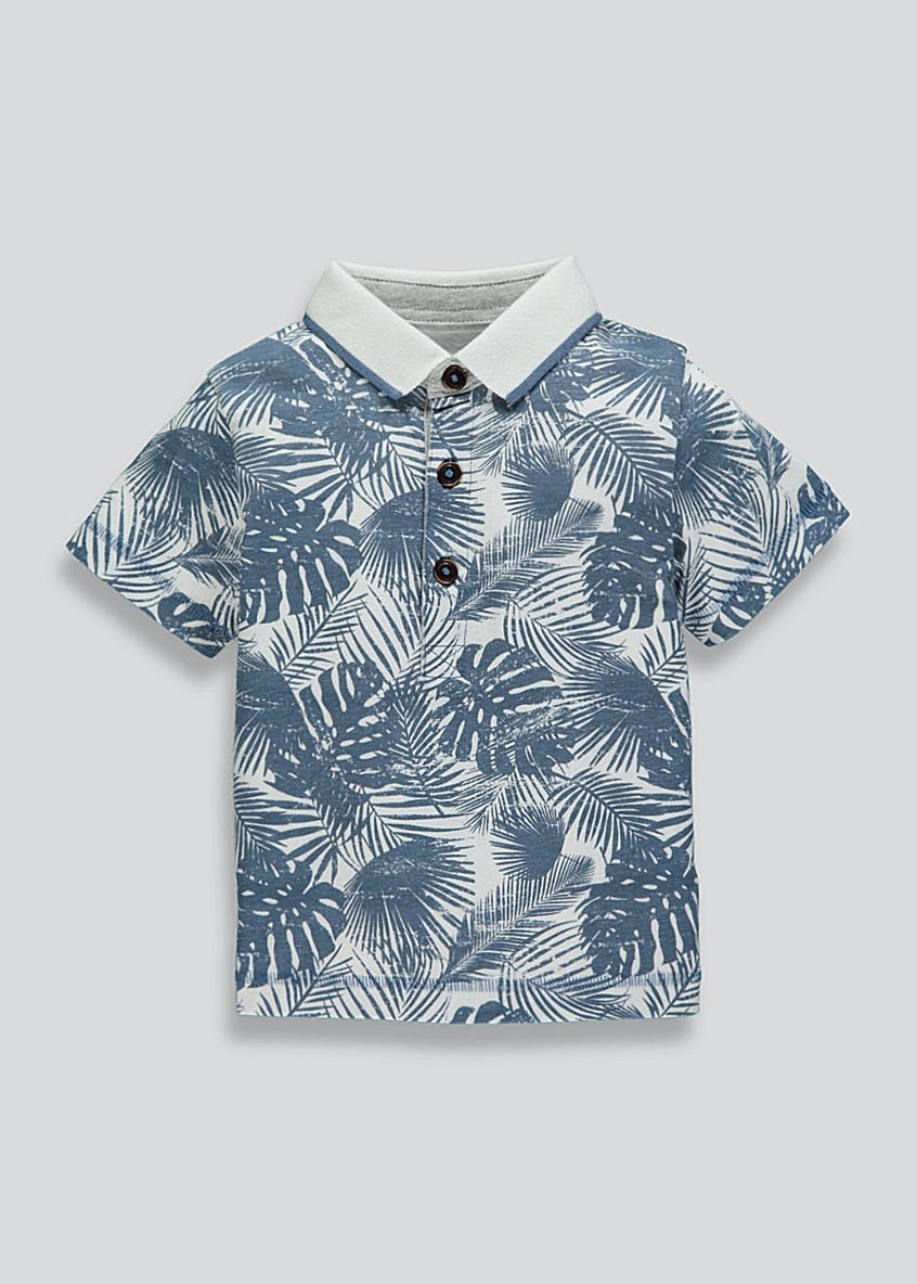Boys Palm Print Polo Shirt (9mths-6yrs)