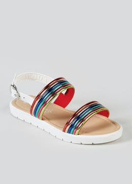 0a7d06c4427e Girls Rainbow Strap Sandals (Younger 10-Older 5)