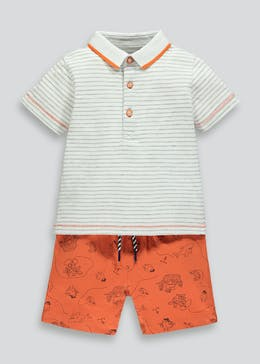 Boys Printed Polo Shirt & Shorts Set (9mths-6yrs)