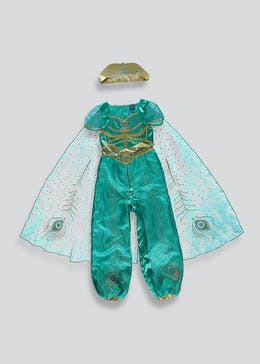 Kids Disney Princess Jasmine Aladdin Fancy Dress Costume (3-9yrs)