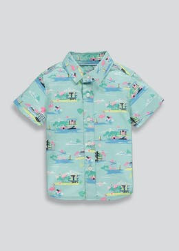 Boys Flamingo Print Shirt (9mths-4yrs)