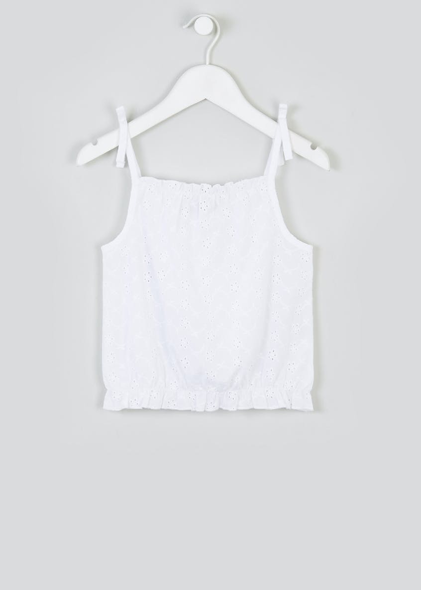 Girls Broderie Cami Top (4-13yrs)