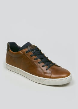Real Leather Casual Cupsole Trainers