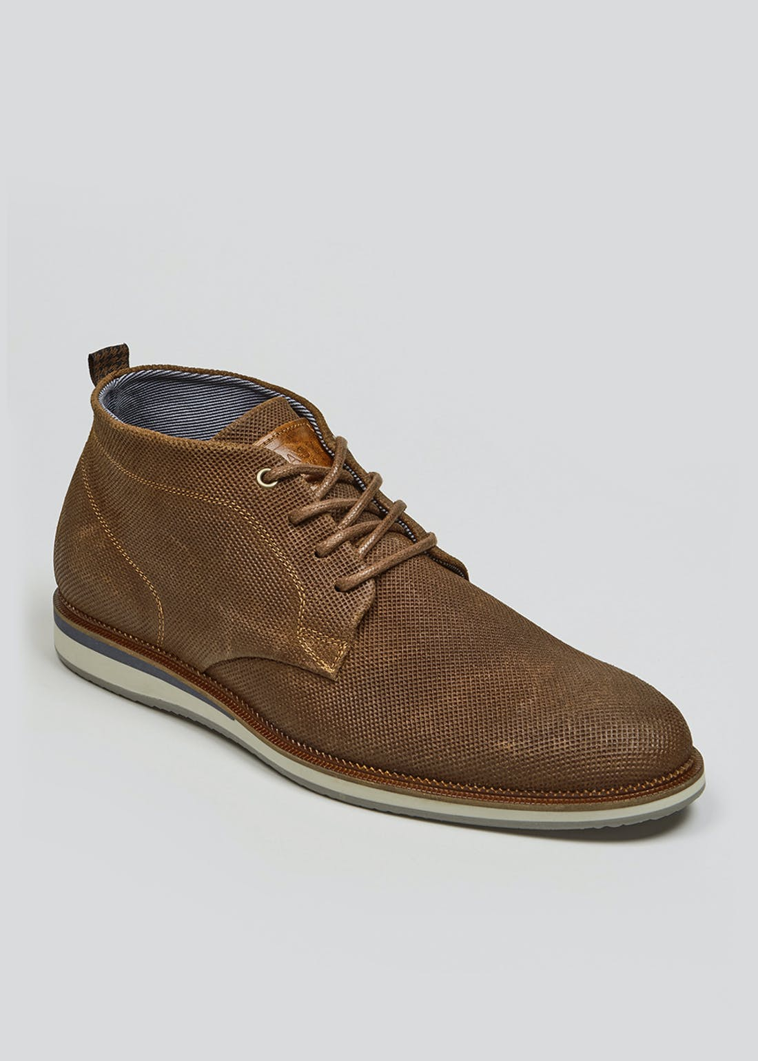 Real Leather Perforated Desert Boots