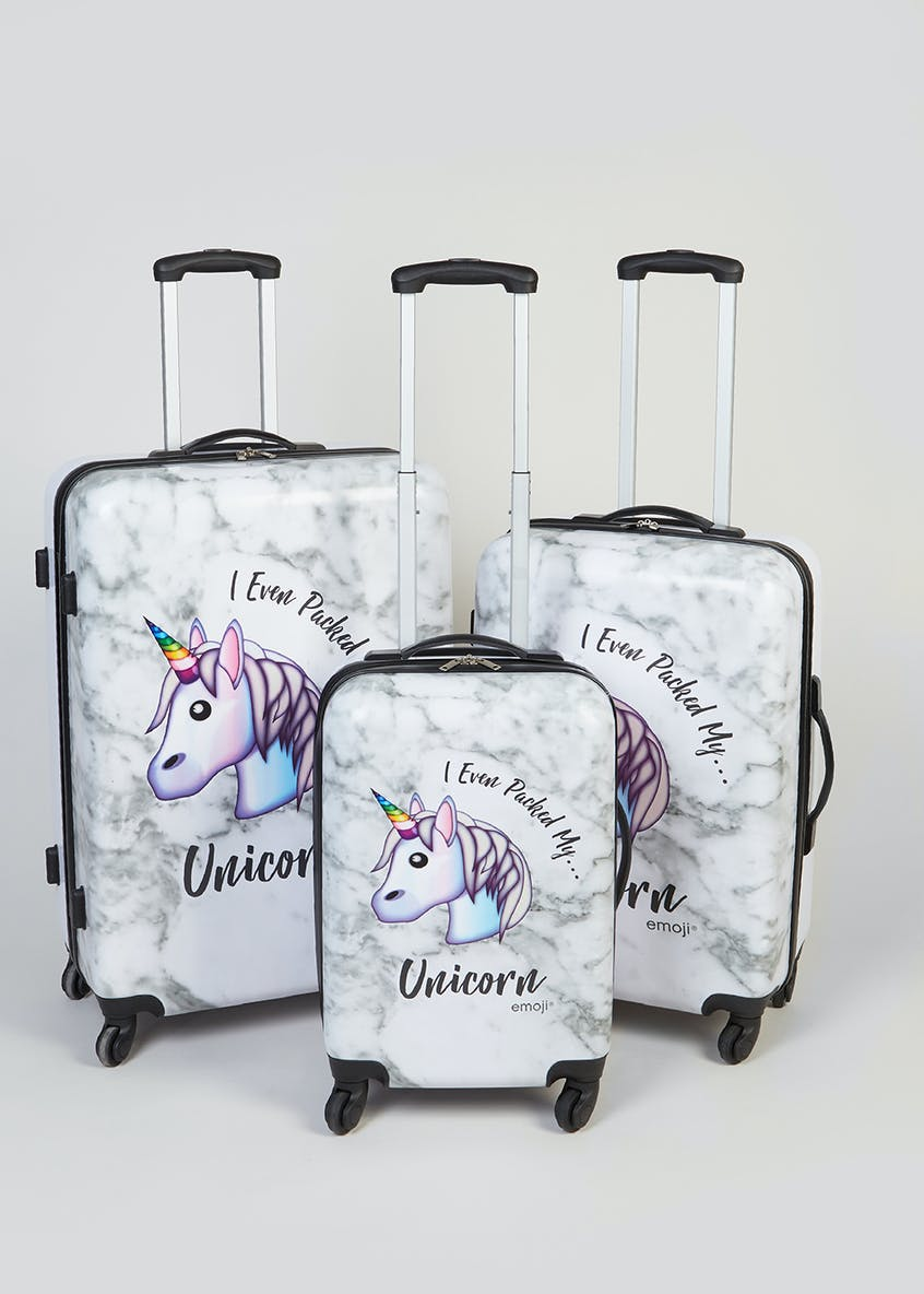 Emoji Unicorn Suitcase