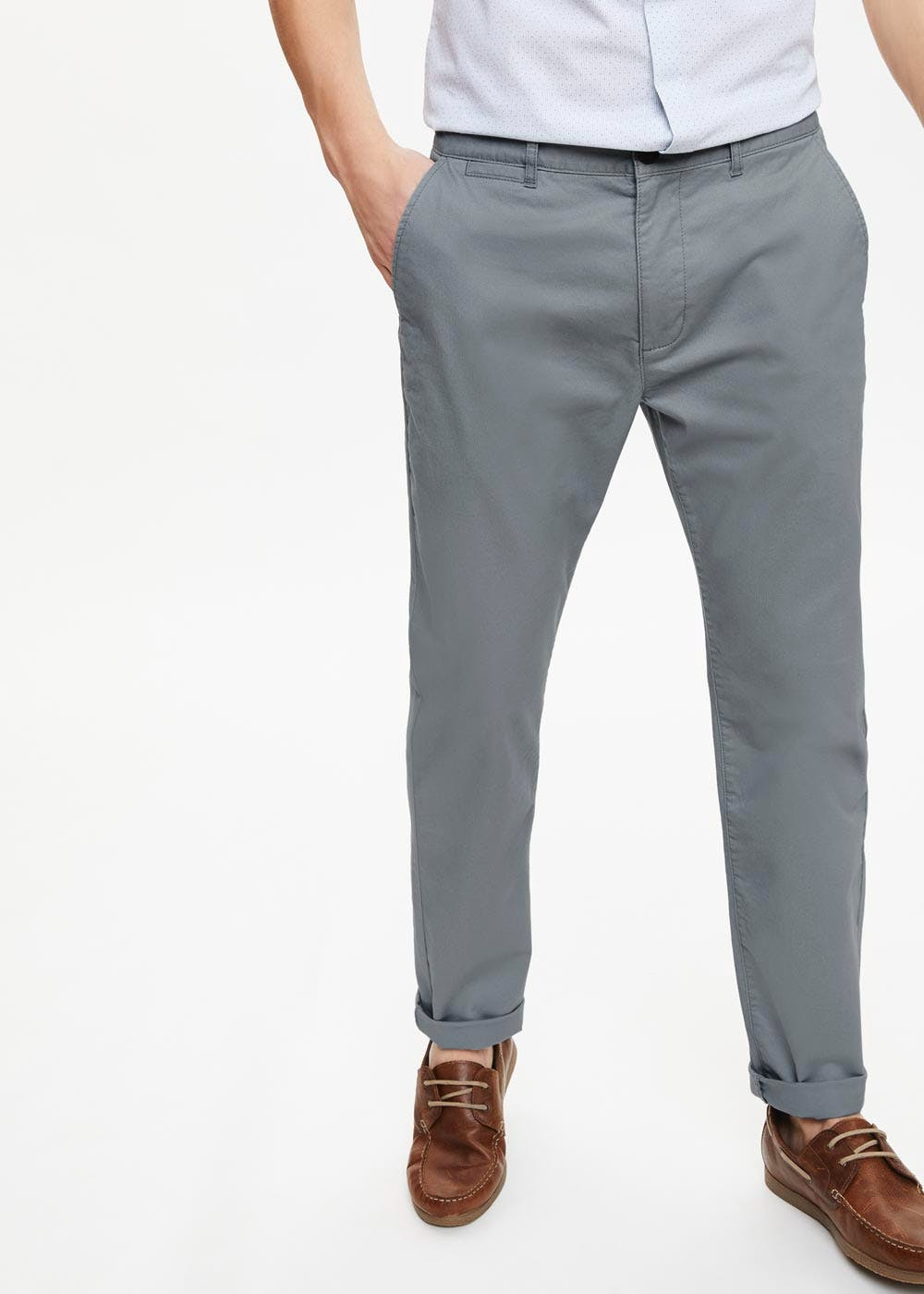 6ea579d8 Straight Fit Stretch Chinos – Duck Egg Blue – Matalan