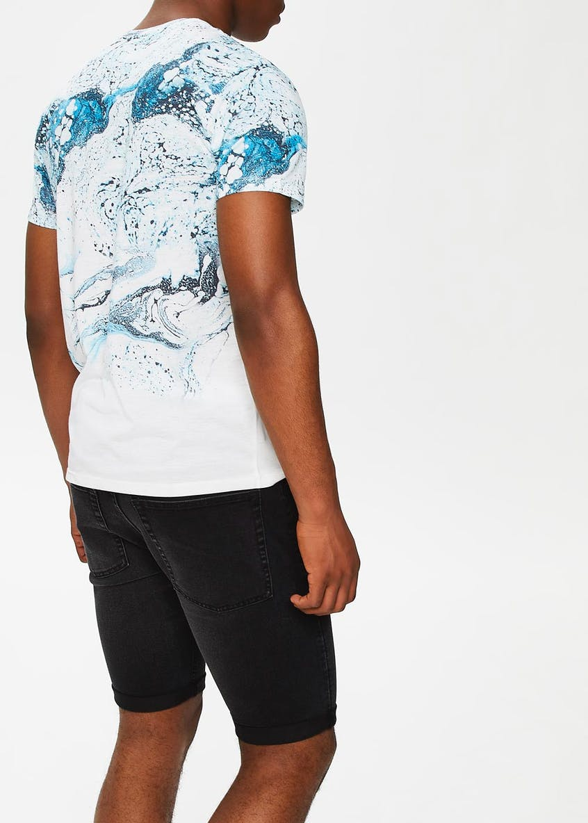 Marble Sublimation Print T-Shirt