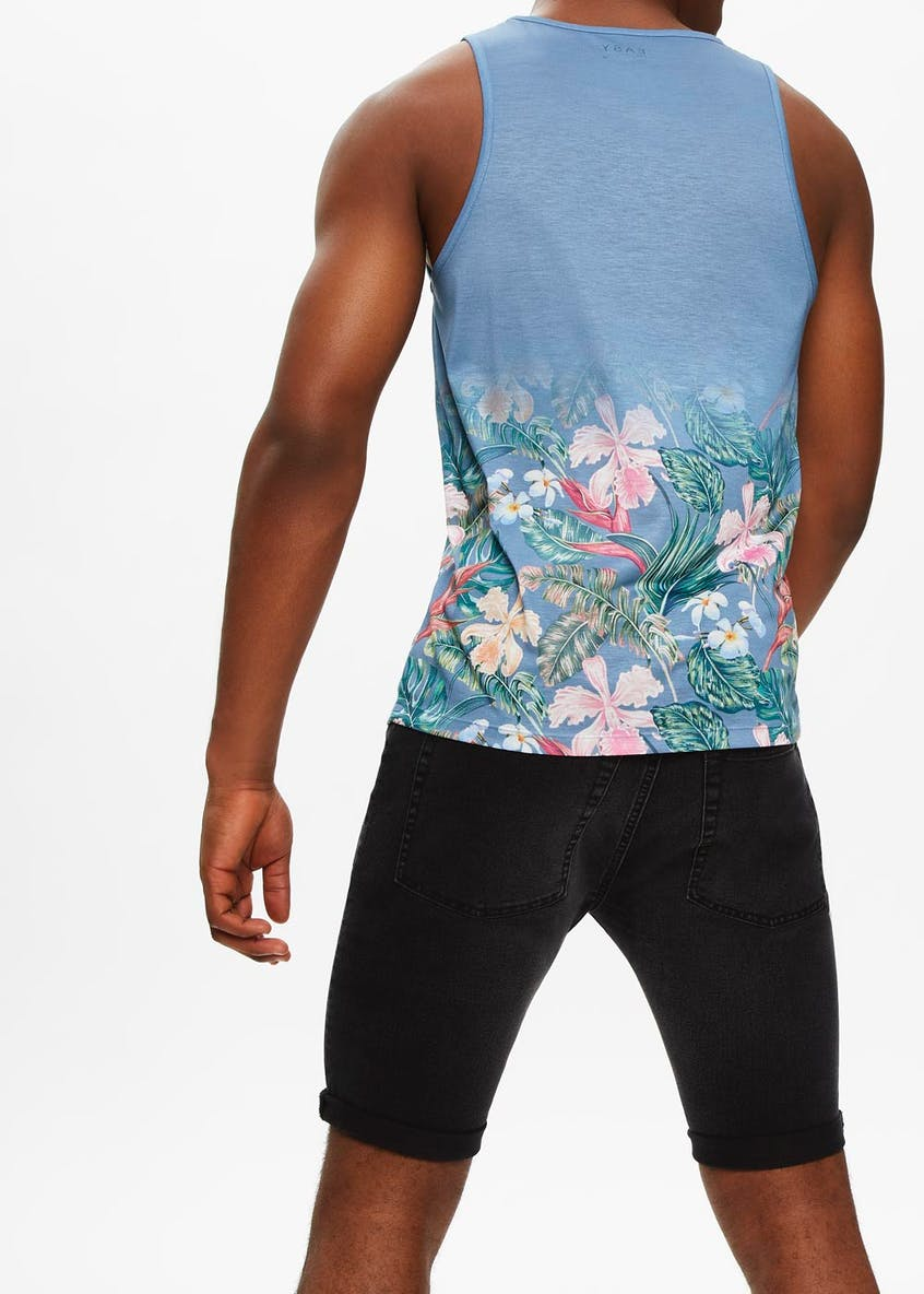 Floral Sublimation Print Vest