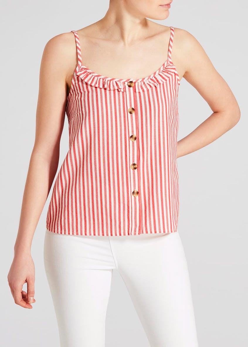 Stripe Linen Look Co-Ord Cami