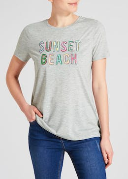 Sunset Slogan T-Shirt