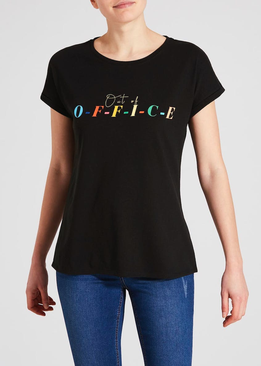 Out of Office Slogan T-Shirt