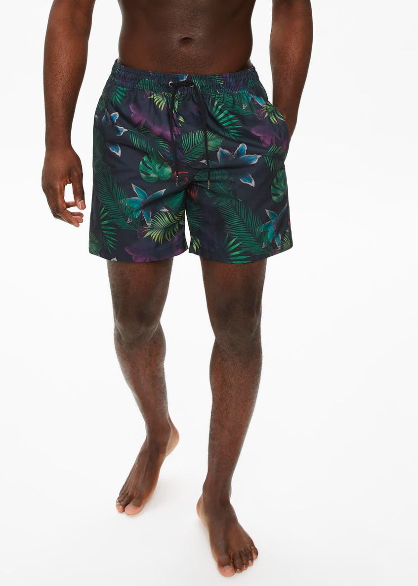 Big & Tall Jungle Print Swim Shorts