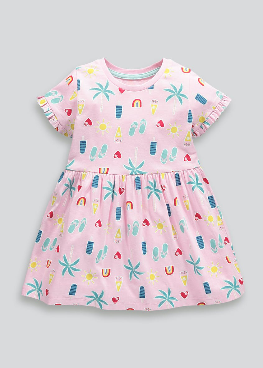 Girls Summer Print Jersey Dress (9mths-6yrs)