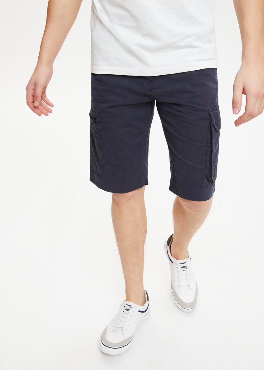 Big & Tall Belted Cargo Shorts
