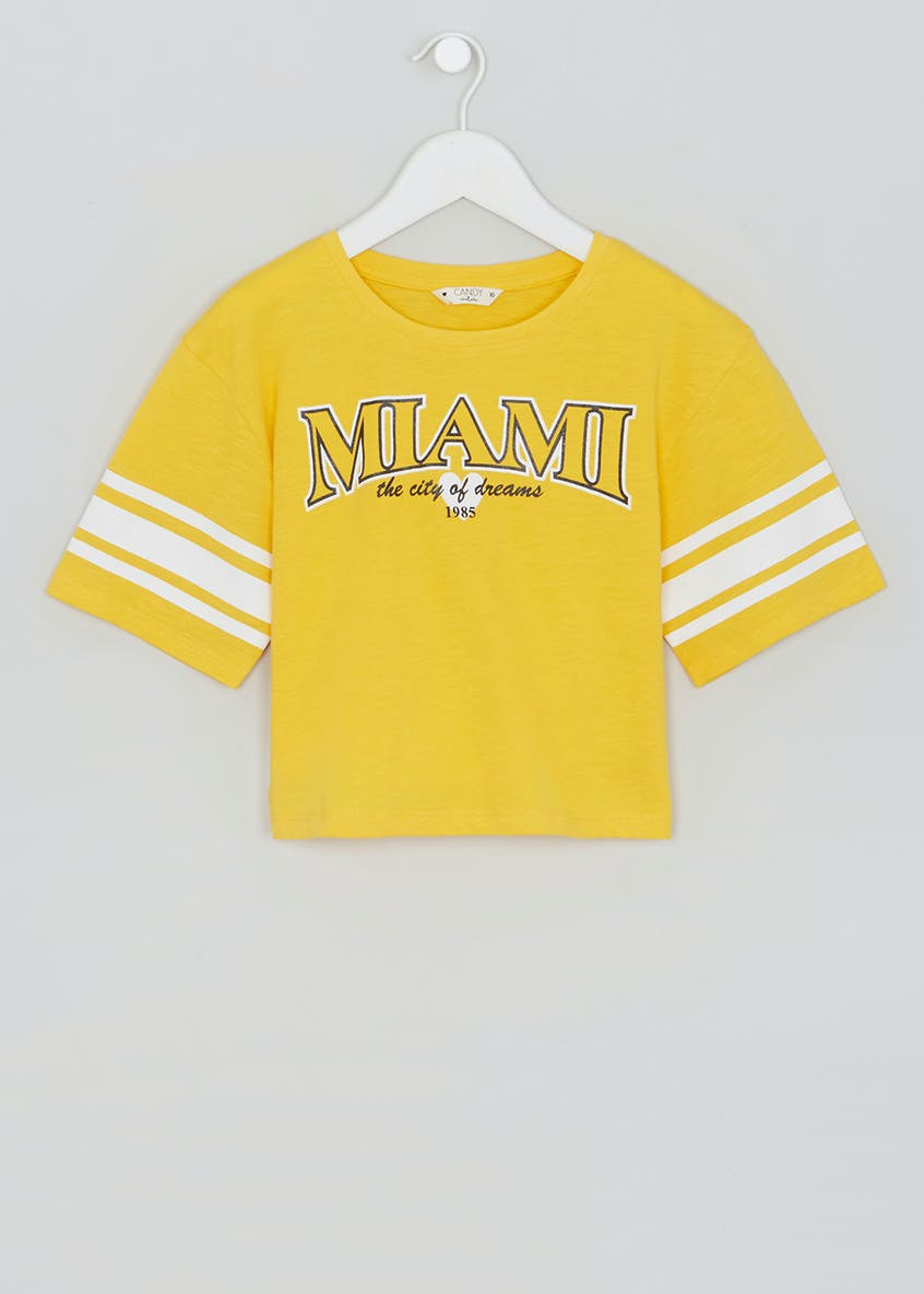 Girls Candy Couture Miami Cropped T-Shirt (9-16yrs)