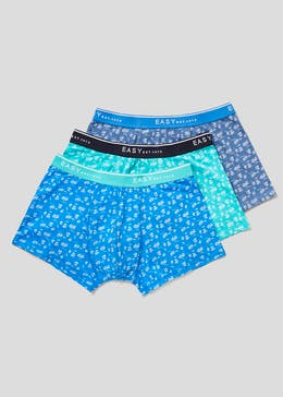3 Pack Palm Print Hipster Boxers