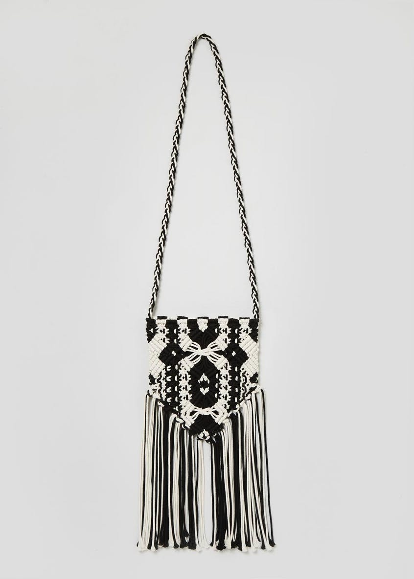 Macrame Cross-Body Bag