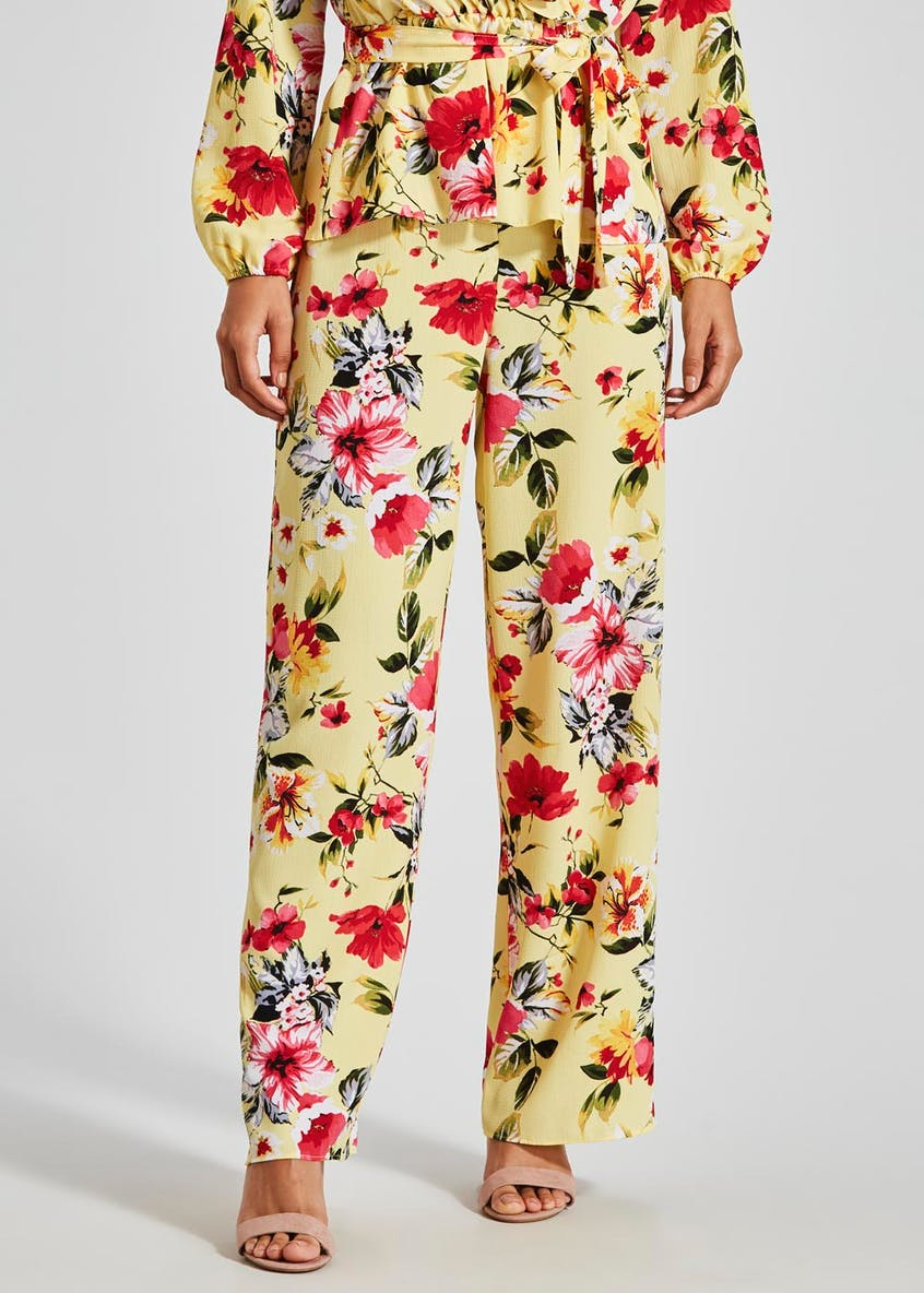 Floral Occasion Co-Ord Wide Leg Trousers