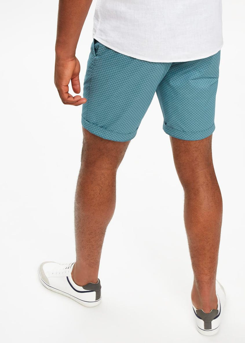 Geometric Chino Shorts
