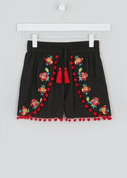 Girls Candy Couture Pom Pom Shorts (9-16yrs)