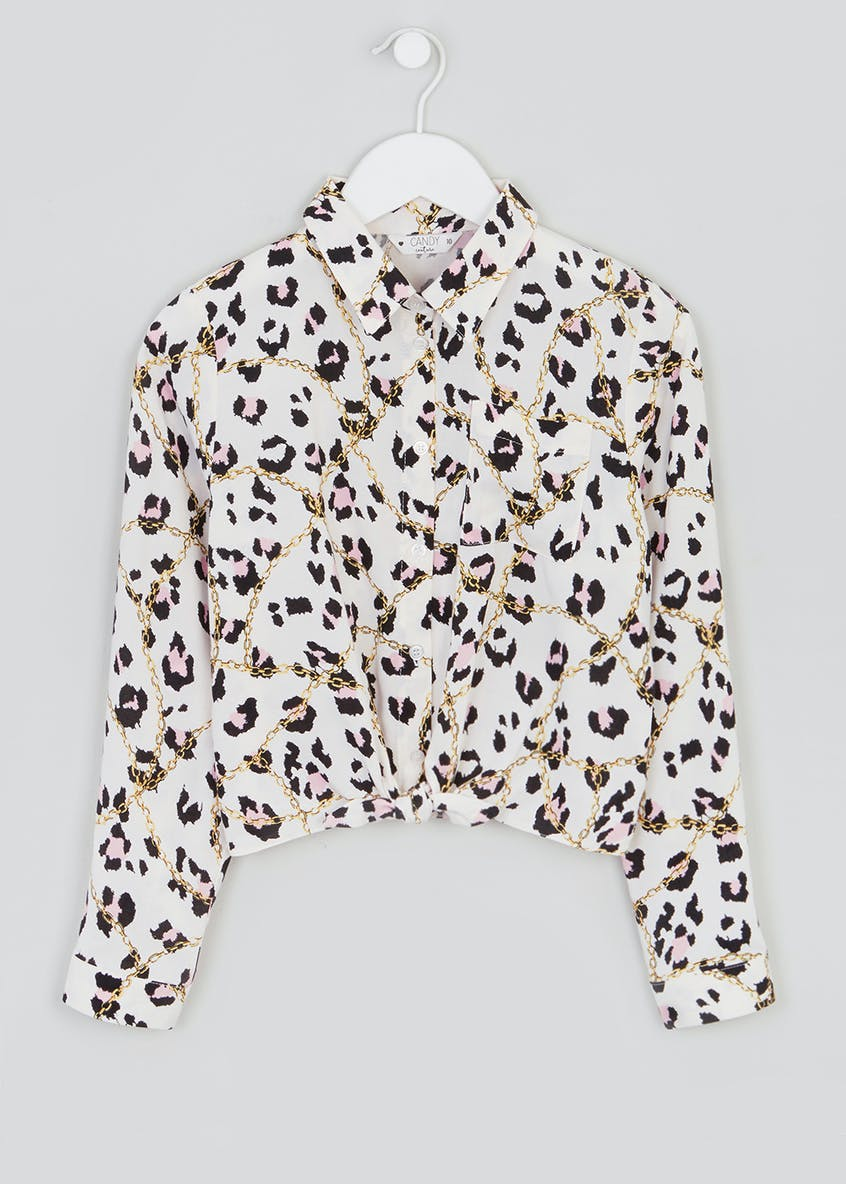 Girls Candy Couture Chain Print Blouse (9-16yrs)