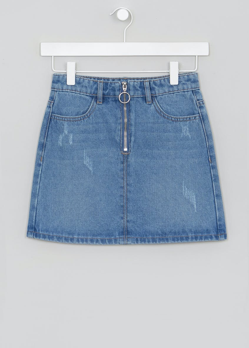 Girls Candy Couture Ring Pull Denim Skirt (9-16yrs)