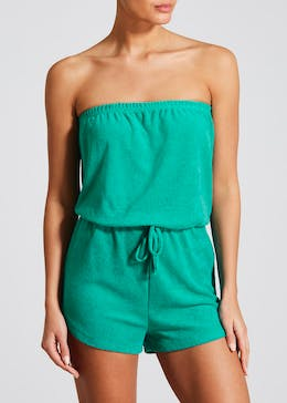 Bandeau Towelling Playsuit