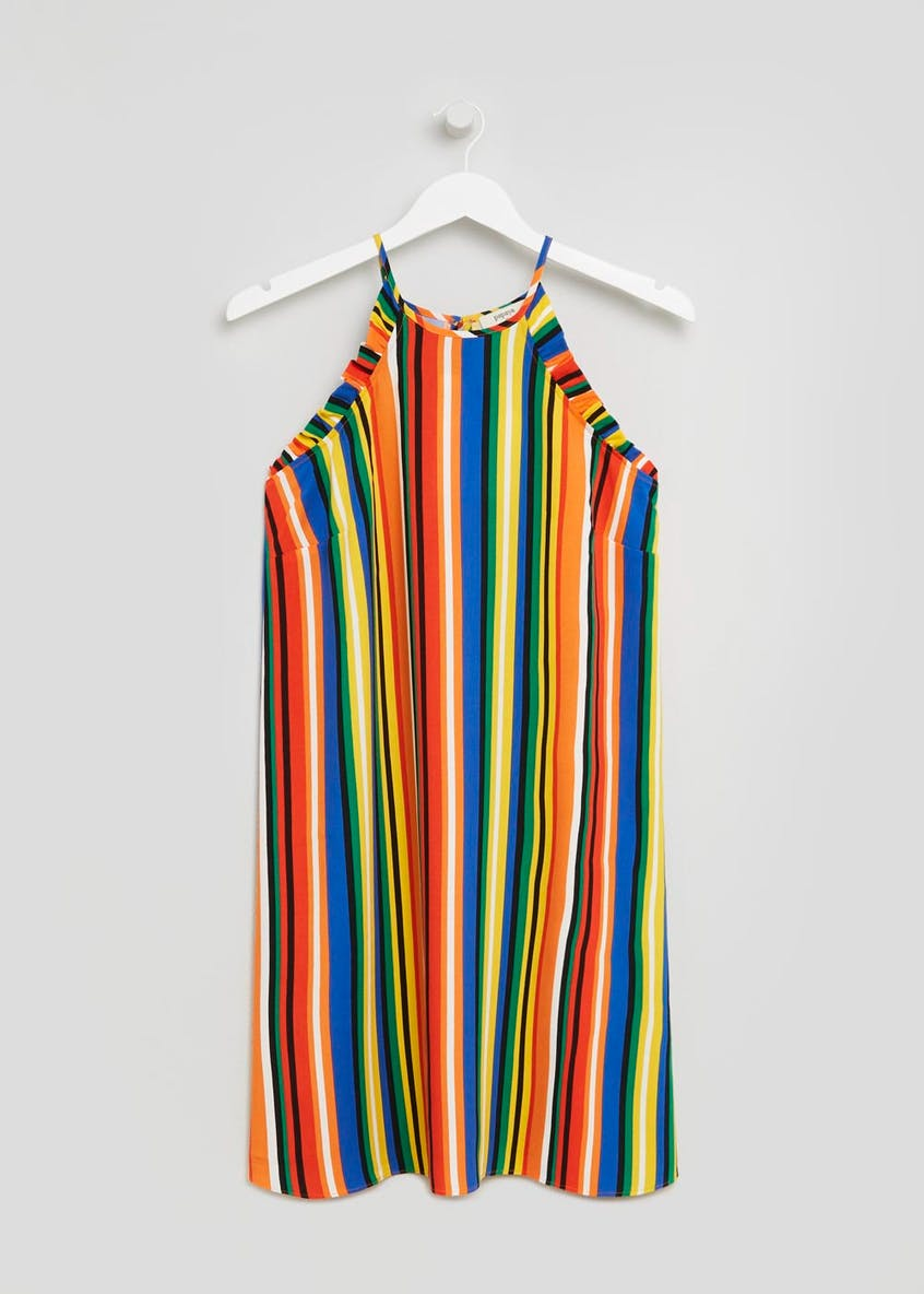 Stripe Frill Viscose Cami Dress