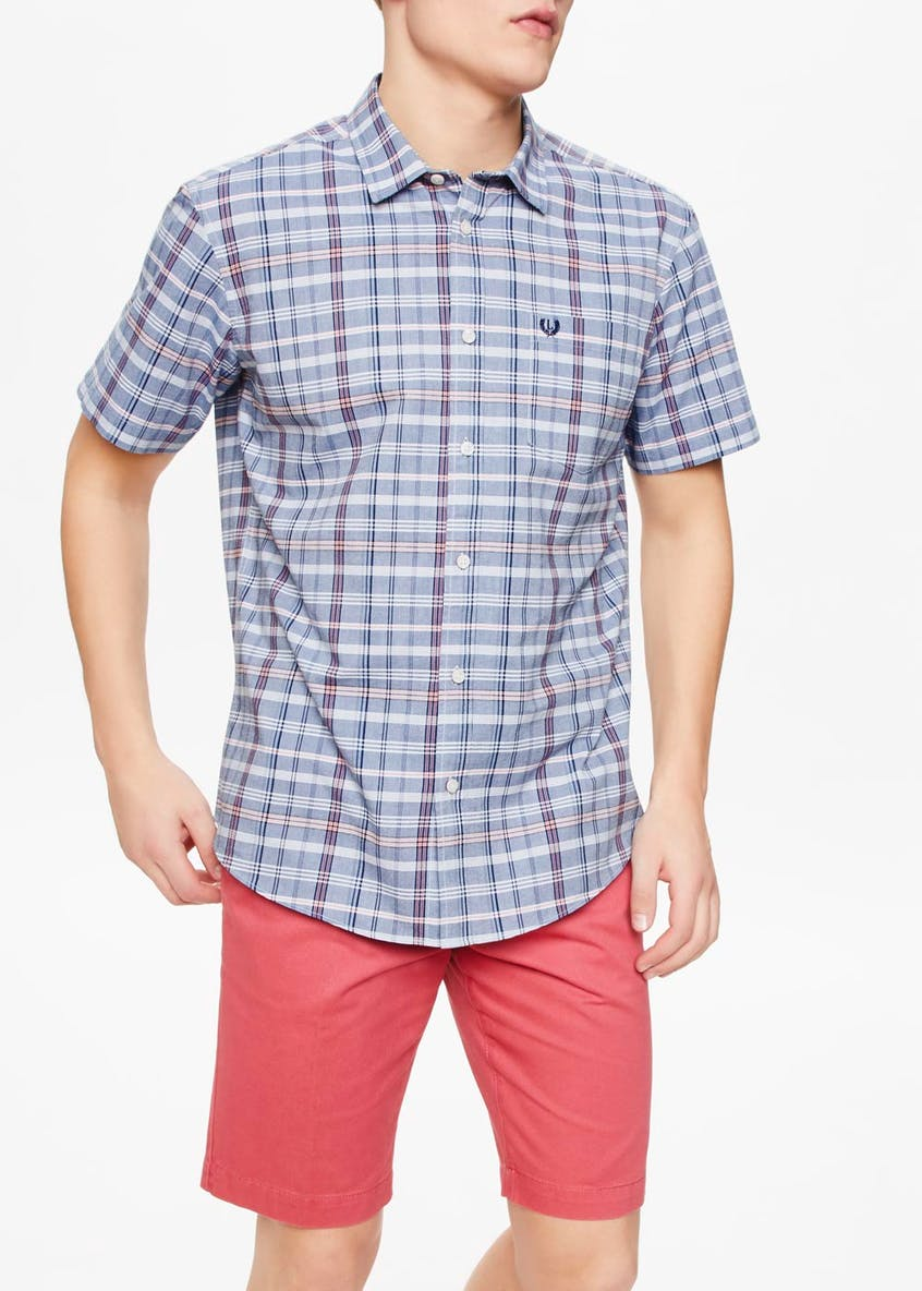 Lincoln Short Sleeve Check Oxford Shirt