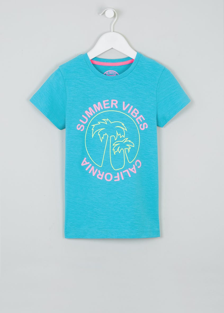 Boys Summer Vibes Slogan T-Shirt (4-13yrs)