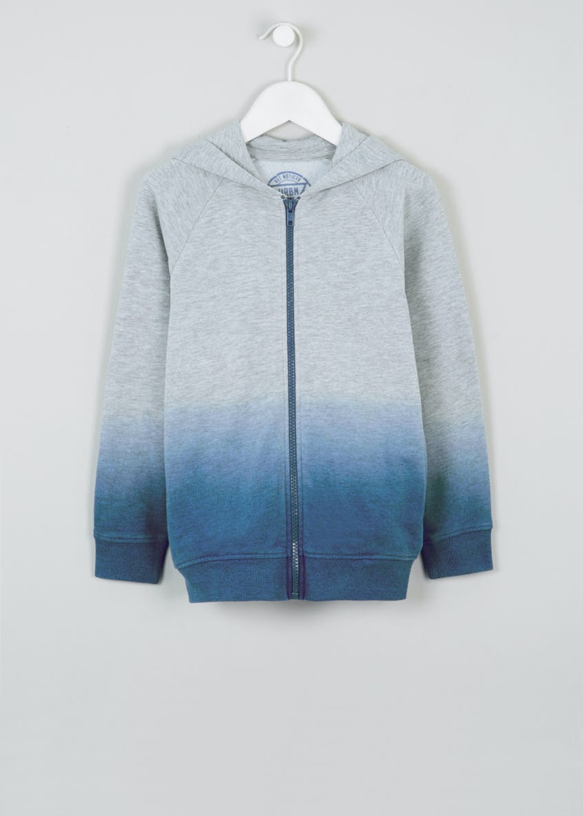 Boys Dip Dye Zip Through Hoodie (4-13yrs)