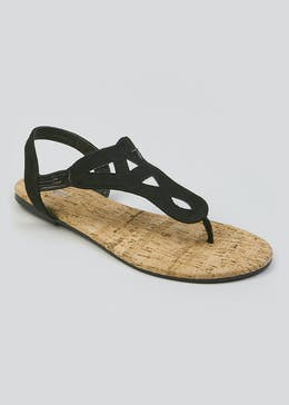 df064b6d6 Toe Post Cork Sandals